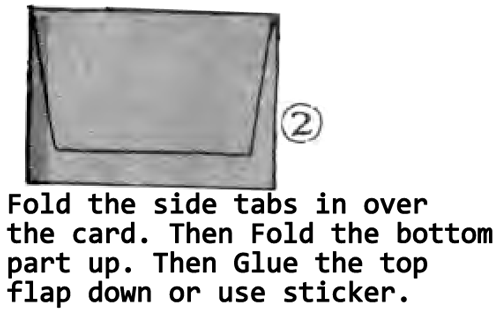 Fold the side tabs in over the card