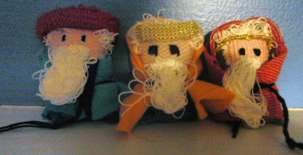 Finished 3 wise men craft