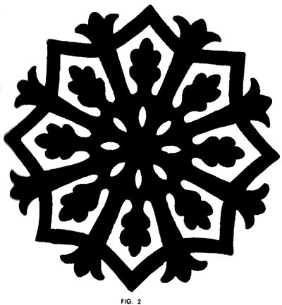 Finished classic snowflake technique