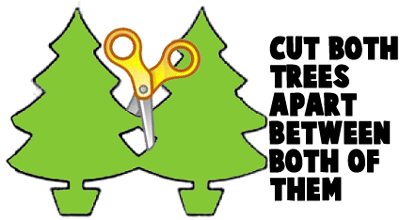 Cut both trees apart between both of them.