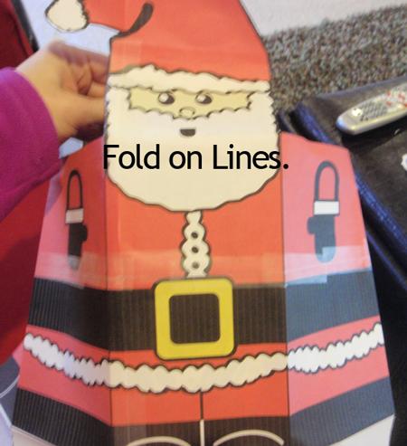 Fold on lines.