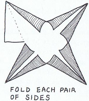 fold each pair of sides in to the center line
