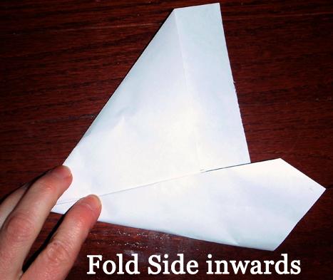 Fold side inwards.