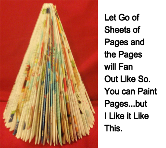 Let go of sheets of pages and pages will fan out like so