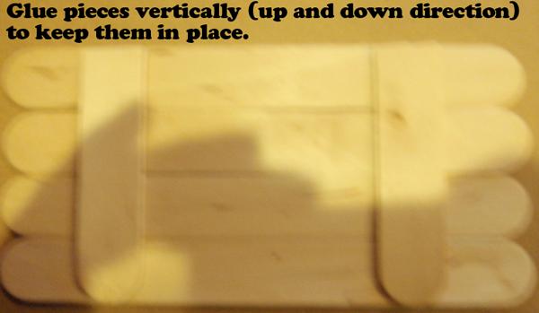 Glue pieces vertically