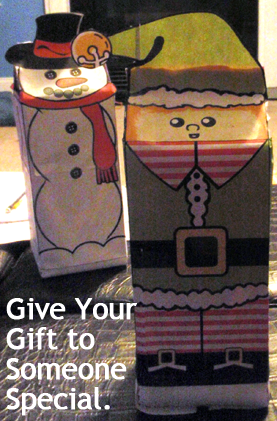Give your gift to someone special.