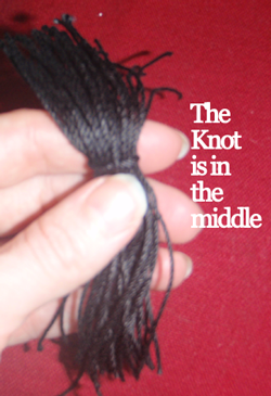 The knot is in the middle