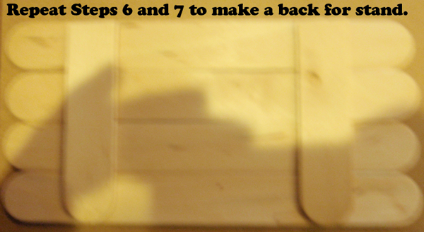 Repeat steps 6 and 7 to make a back for stand.