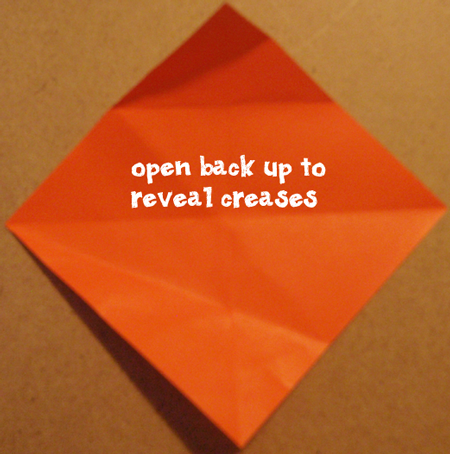 Open back up to reveal creases.