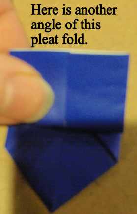 Here is another angle of this pleat fold.