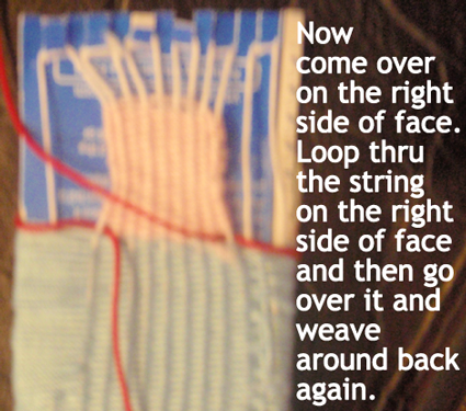 Loop thru the string on the right side of the face