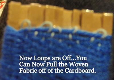 pull the woven fabric off of the cardboard