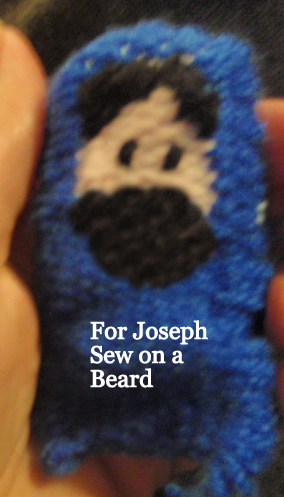 For Joseph.... sew on a beard.