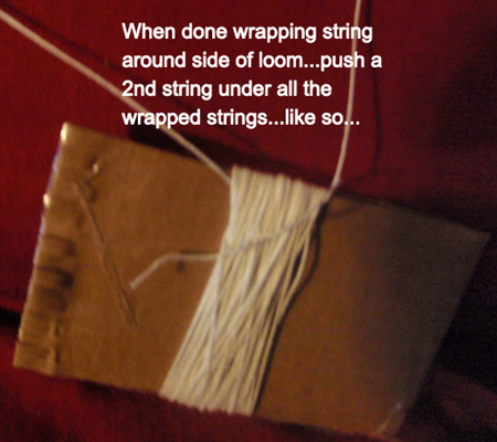 push a 2nd string under all the wrapped strings