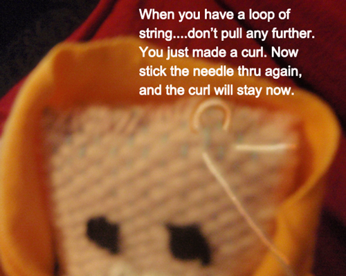 When you have a loop of string... don't pull any further.  You just made a curl.
