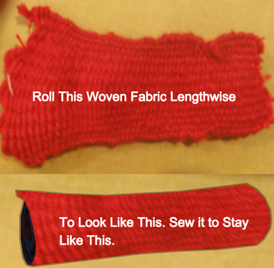 Roll this woven fabric lengthwise