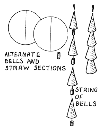 Paper Chains of Bells Ornaments