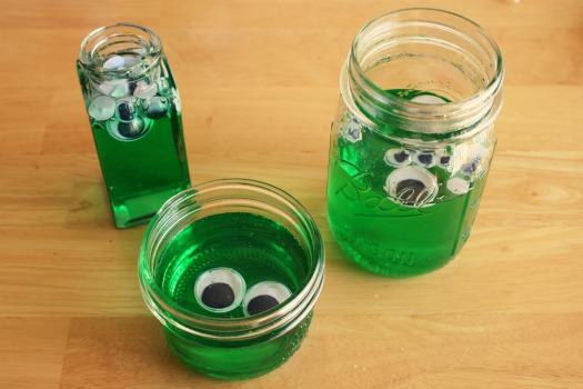 Googly Eyed Green Blobs