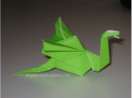 Origami Dragon Folding Instructions - How to Make Origami Dragon ... | 335x453