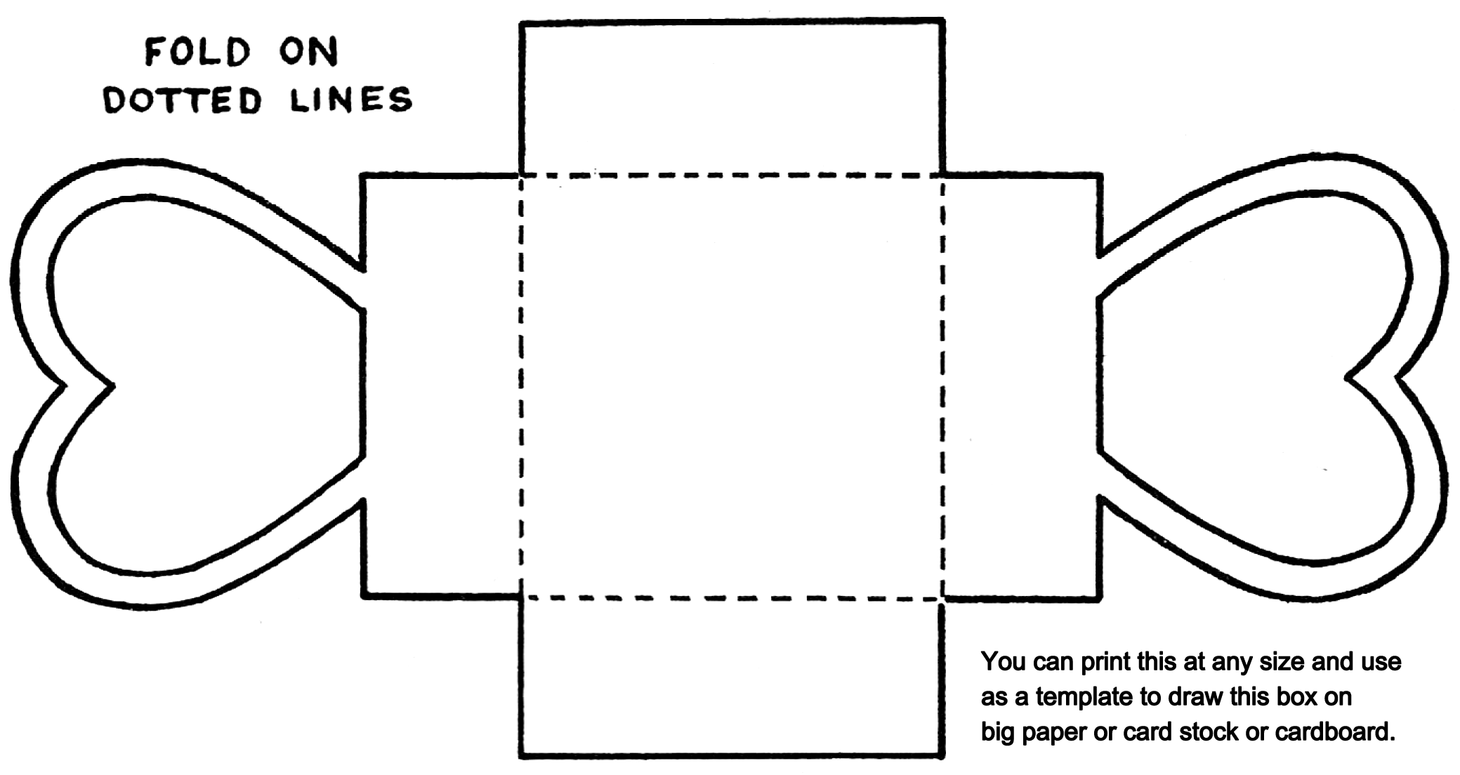 Paper Template To Trace Valentine Box