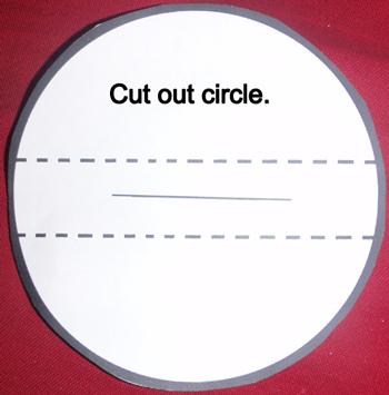 Cut out circle.