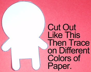 trace on different colors of paper