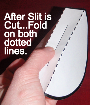 fold on both dotted lines
