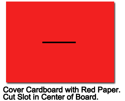 Cover cardboard with red paper.