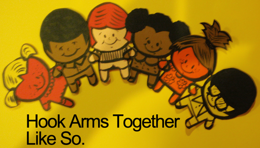 Hook arms together
