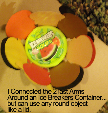 connect arms around a round lid