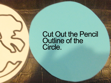 Cut out the pencil outline of the circle.