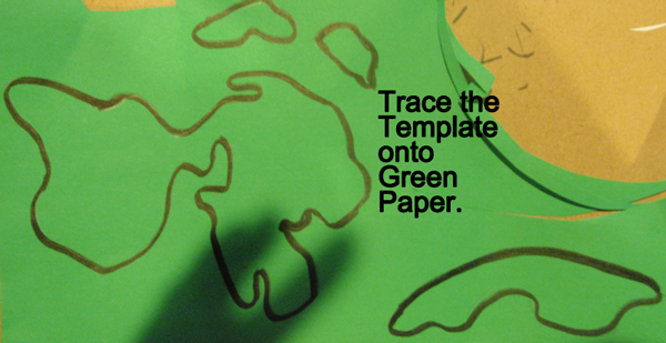Trace the template onto green paper.
