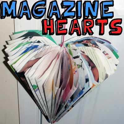 How to Make Magazine Folded Hearts