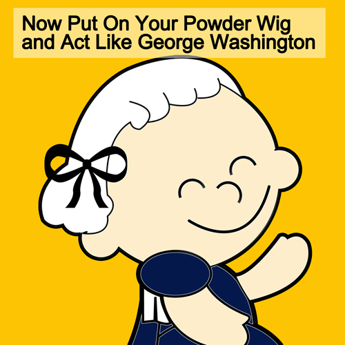 Finished George Washington Wig