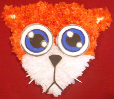Finished kitty cat craft