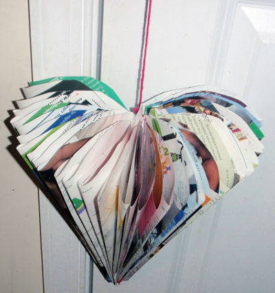 Finished Magazine Fold Hearts Craft