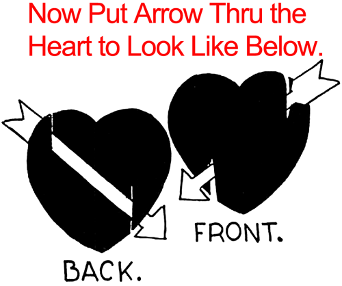 Now put arrow thru the heart