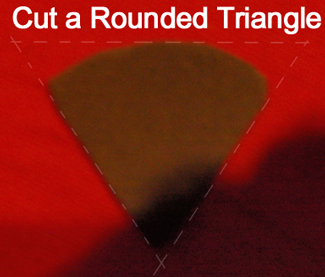 Cut a rounded triangle from brown felt.