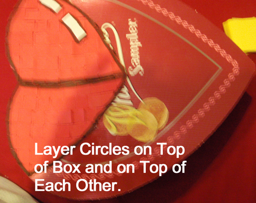 Layer circles on top of box and on top of each other.