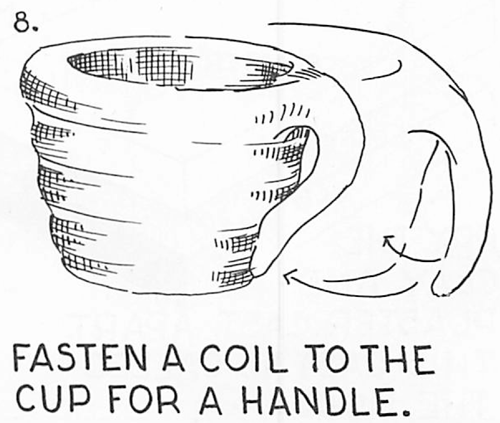 Fasten a coil to the cup for a handle.