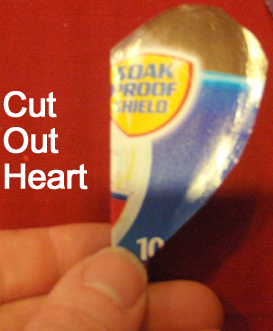 Cut out heart.