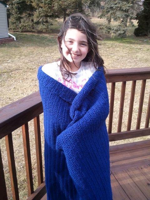 Finished Crocheted Blanket