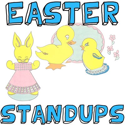 How to Make Easter Standup Animals