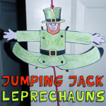 How to Make Jumping Jack Leprechauns