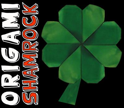 Finished Origami Shamrock