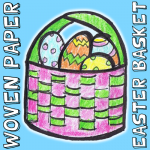 How to Make a Woven Paper Easter Basket