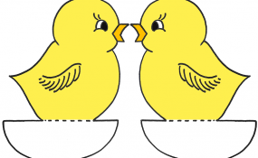 Baby Chick 2 Color Template