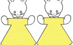 Bunny Rabbit Color Template
