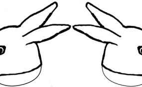 Bunny head template