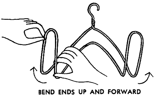 Bend ends up and forward.